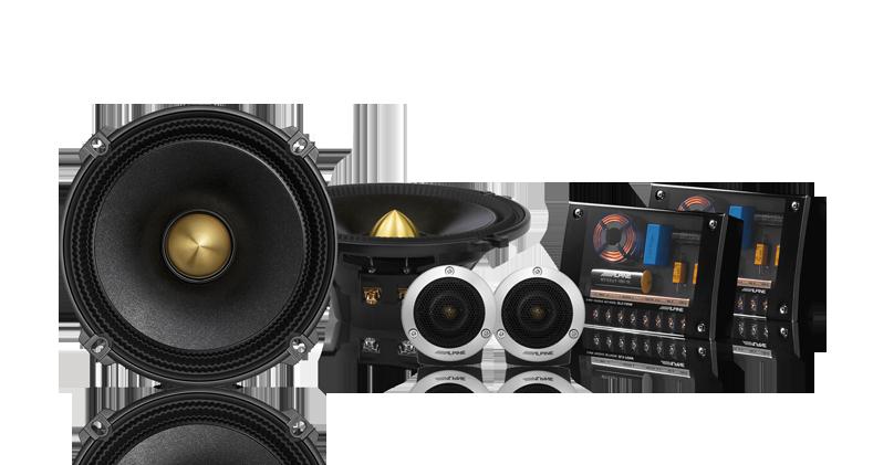 "Alpine DLX-F177 6.5"" Component Speakers"