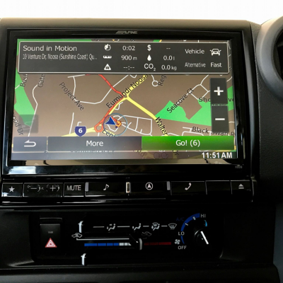 "Toyota Landcruiser HJ79 Alpine X009E-U 9"" Navigation Multimedia Station"