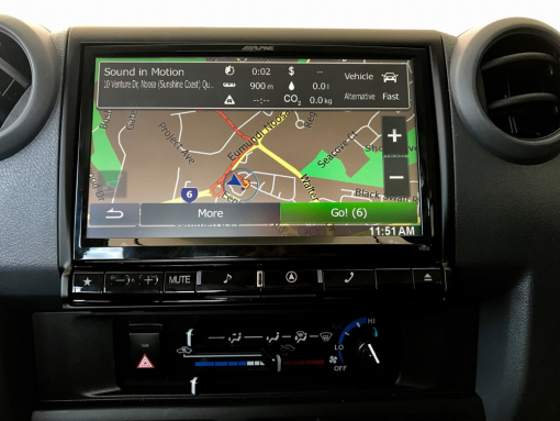 "Toyota Landcruiser HJ79 Alpine X009E-U 9"" Navigation Multimedia Station"