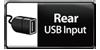 Rear USB input.