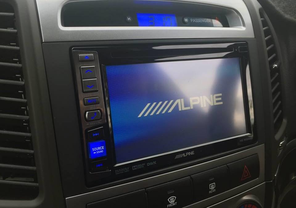 Hundai Sante Fe – Upgraded with Alpine IVE-W554