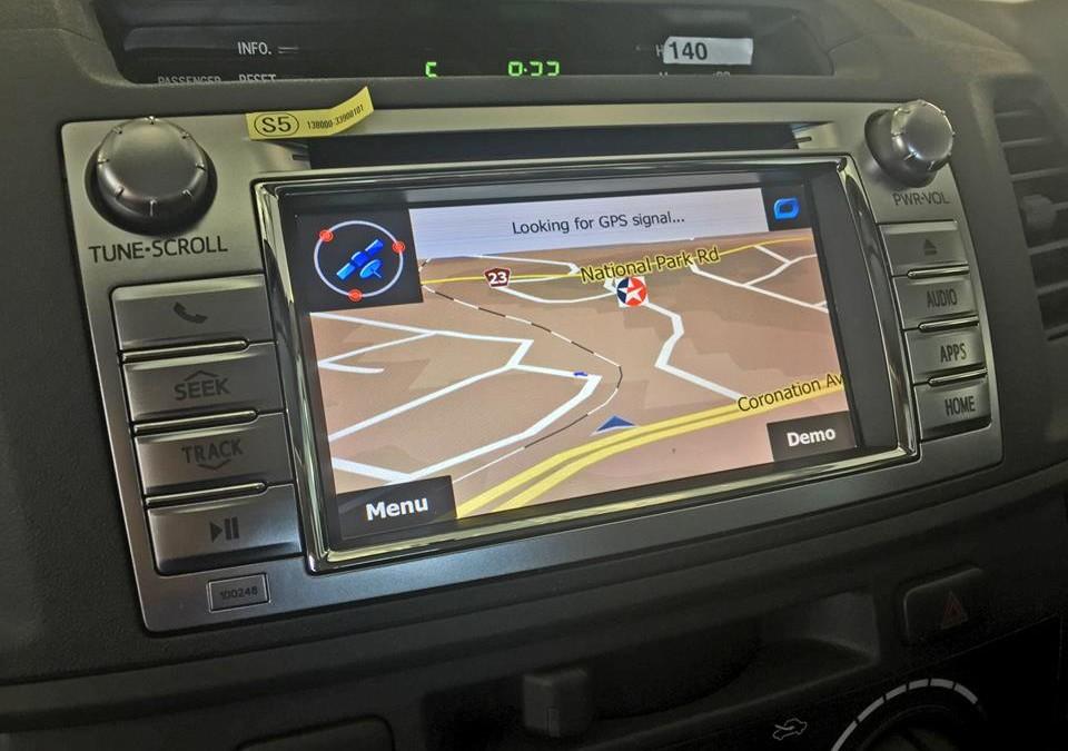 Toyota Hi-Lux multimedia head unit