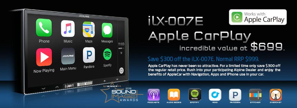 Alpine iLX-007E and Alpine iLX700 Apple Car Play Promotion