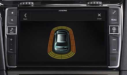 Golf-7-Parking-Sensor-Screen-X901D-G7