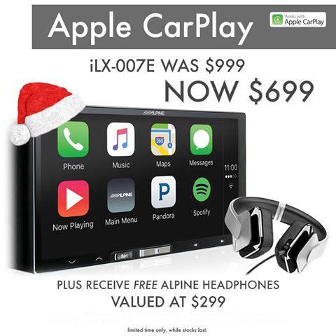 Alpine iLX-007E Apple CarPlay Head Unit + Alpine SV-H300UW Head Phones