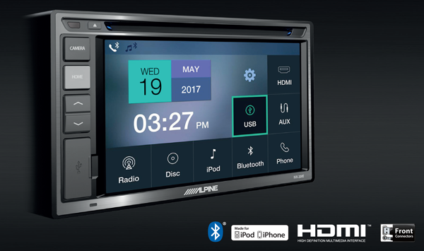 New Release! Alpine iVX-W200E 6″ Touchscreen CD/USB/HDMI/AUX Head Unit