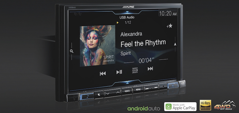 New Release!! Alpine X208AU   8″ Receiver with CarPlay + Android Auto + 4wd Navigation